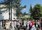 Společná cesta s německými kolegy ke kostelu