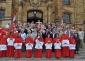 Společné foto s německými kolegy před bazilikou